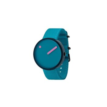 """WATCH PICTO/""""OCEAN GHOST""""/R44006-R007/40mm/BLUE LAGOON DIAL-NAVY BLUE CASE /RECYCLED LAGOON BLUE STRAP"""
