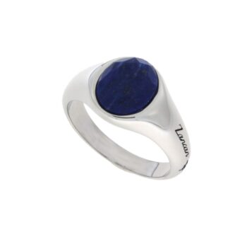 RING ZANCAN/EXA238-L/SILVER RING WITH OVAL TAGE LAPIS