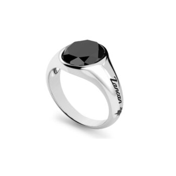 RING ZANCAN/EXA238/SILVER RING WITH OVAL TAGE ONYX